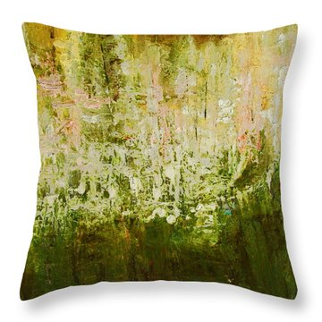 Neighbor's Woods  Throw Pillow by Betty Pieper