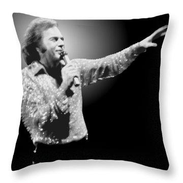 Neil Diamond Reaching Out Throw Pillow