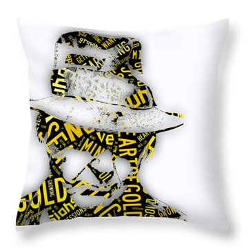 Neil Young Heart Of Gold Throw Pillow