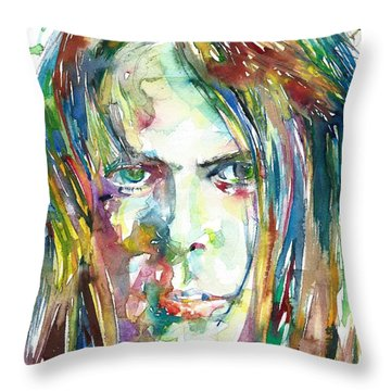 Neil Young Portrait Throw Pillow