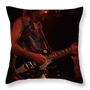 Neil Young Throw Pillow by Rich Fuscia