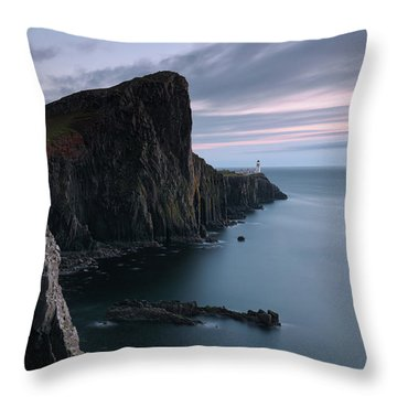 Throw Pillow featuring the photograph Neist Point Sunset - Isle Of Skye by Grant Glendinning