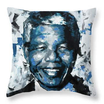Nelson Mandela II Throw Pillow