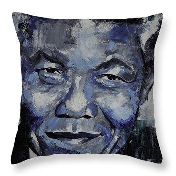 Nelson Mandela IIi Throw Pillow