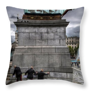 Nelson's Ship In A Bottle Throw Pillow