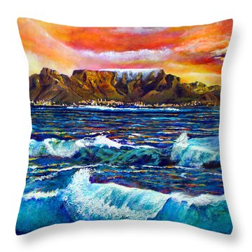 Nelsons View Of Freedom Throw Pillow by Michael Durst