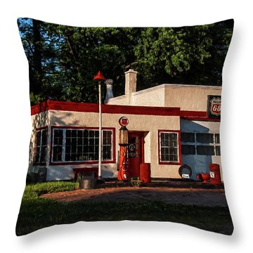 Nelsonville Phillips 66 Throw Pillow by Trey Foerster