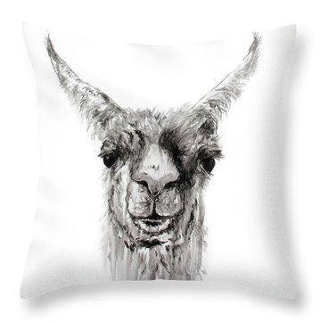 Throw Pillow featuring the drawing Nemorio by K Llamas