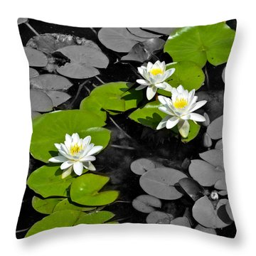 Throw Pillow featuring the photograph Nenuphar by Gina Dsgn