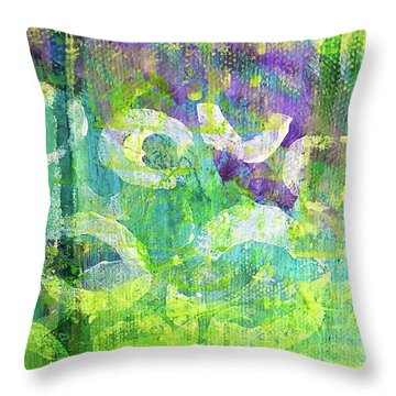 Nenuphars   Throw Pillow by Shelley Graham Turner