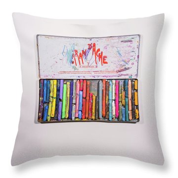 Crayons Throw Pillows