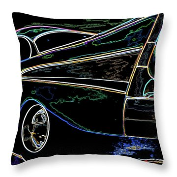 Neon 57 Chevy Bel Air Throw Pillow