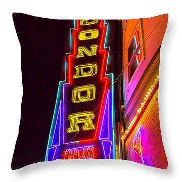 Neon Condor San Francisco Throw Pillow
