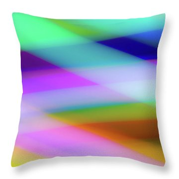 Neon Crossing Throw Pillow