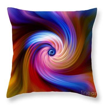 Neon Escape Throw Pillow