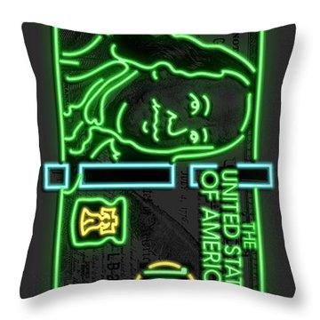 Neon Franks Throw Pillow