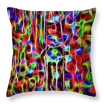 Throw Pillow featuring the photograph Neon Gum by Spencer McDonald