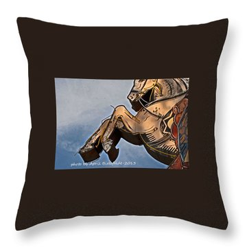 Neon Horse Throw Pillow