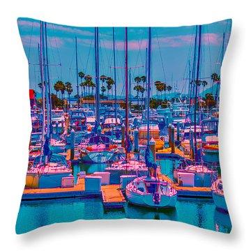 Neon Marina Throw Pillow