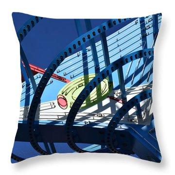 Neon Martini. Throw Pillow