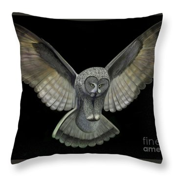 Neon Owl Throw Pillow