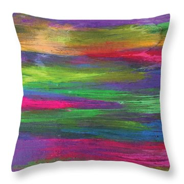 Neon Rainbow Throw Pillow
