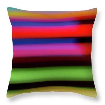 Neon Stripe Throw Pillow