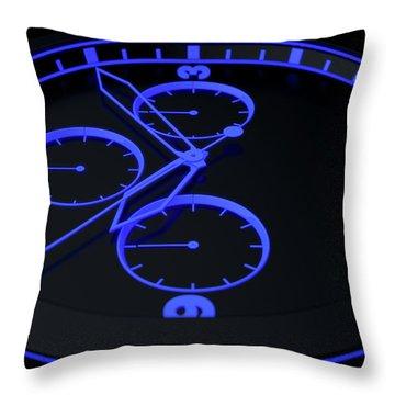 Neon Watch Face Throw Pillow