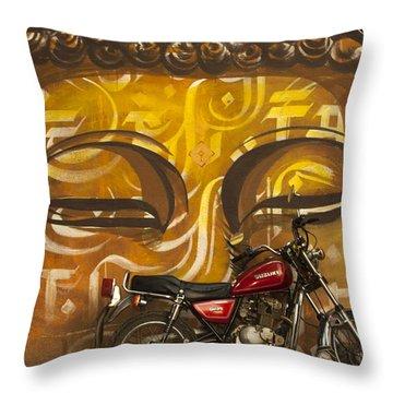 Nepal Buddha Throw Pillow