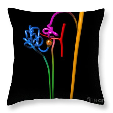 Throw Pillow featuring the digital art Nephron Black by Russell Kightley