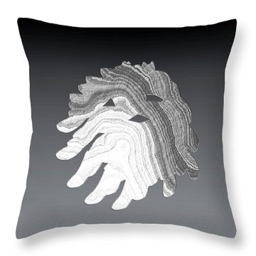 Neptune Throw Pillow by Asok Mukhopadhyay