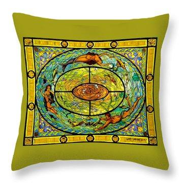 Neptune's Daughter Throw Pillow