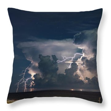 Neptune's Fury Throw Pillow