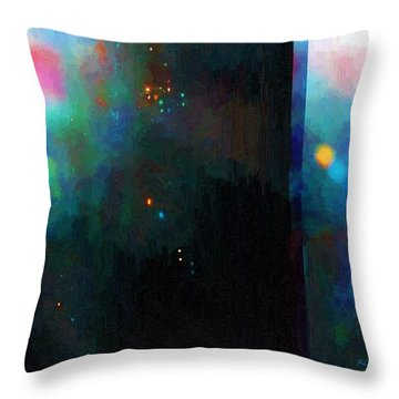 Neptune's Monolith Throw Pillow