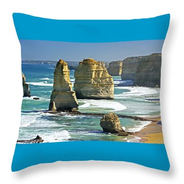Neptune's Sculptures Throw Pillow
