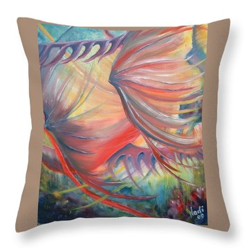 Throw Pillow featuring the painting Neptune's View by Renate Nadi Wesley