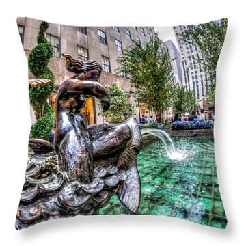Throw Pillow featuring the photograph Nereid by Rafael Quirindongo