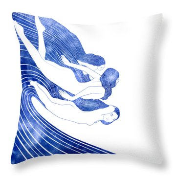 Nereids Throw Pillow