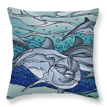 Nereus' Guardians Throw Pillow