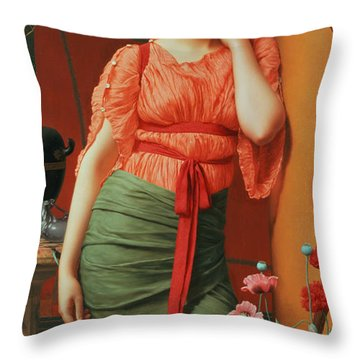 Nerissa Throw Pillow by John William Godward