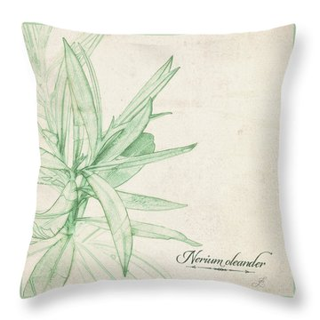 Throw Pillow featuring the digital art Nerium Oleander by Gina Harrison