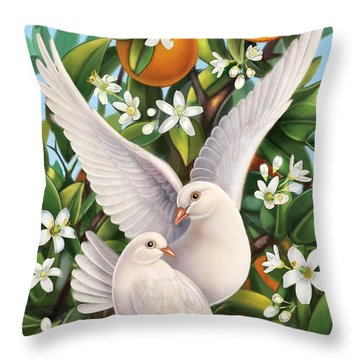 Neroli - Harmonious Partnership Throw Pillow