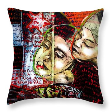 Neruda Love Poem Throw Pillow by Chester Elmore