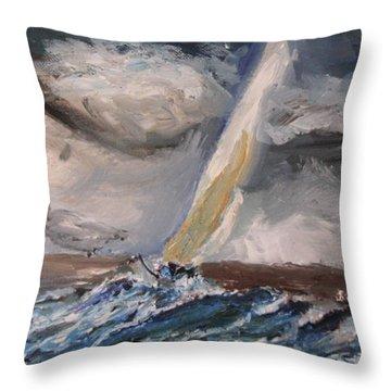 Nerves Of Steel Throw Pillow