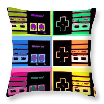 Nes Pop Throw Pillow by Paul Van Scott