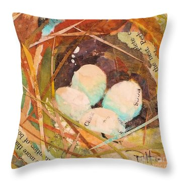 Nest 5 Throw Pillow