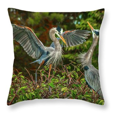 Nest Landing Throw Pillow