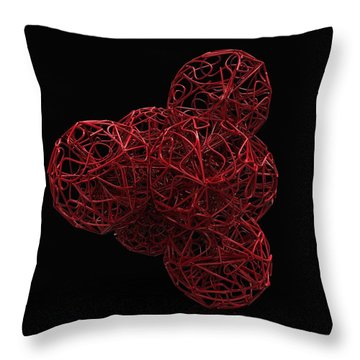 Nest Of Spheres Throw Pillow