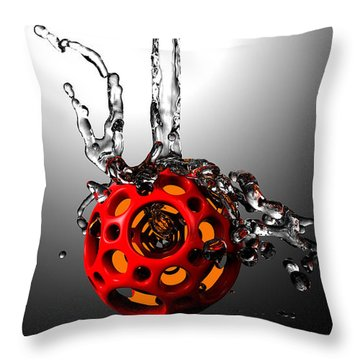 Nested Dodecahedron 001 Throw Pillow