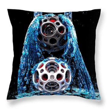 Nested Dodecahedron 2 Throw Pillow